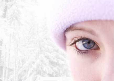 beautiful eyes, winter, girl in snow