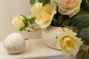 flowers of bathroom decorating
