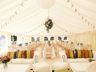big white wedding tent