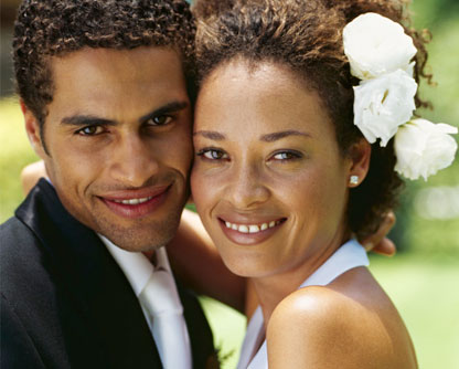 black couple closeup