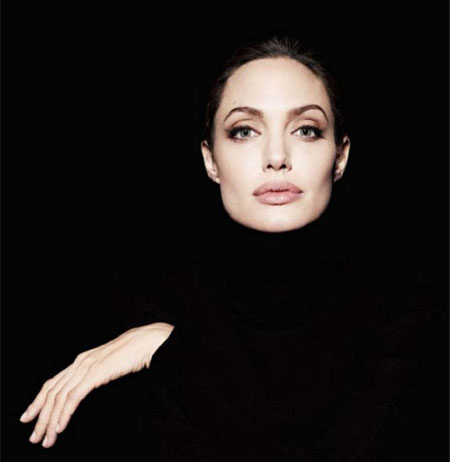 Angelina Jolie face shape