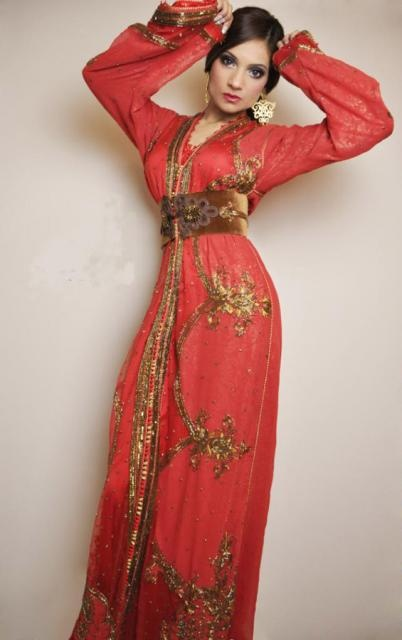 Red Moroccan Kaftan