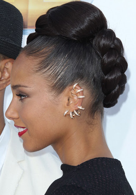 Alicia Keys Braided Mohawk  Hairstyle 2012