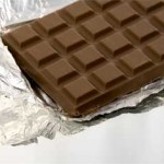 chocolate in aluminium paper
