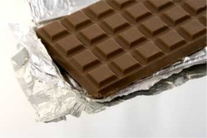 chocolate in aluminium paper