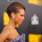 Alicia Keys braided updo 2009